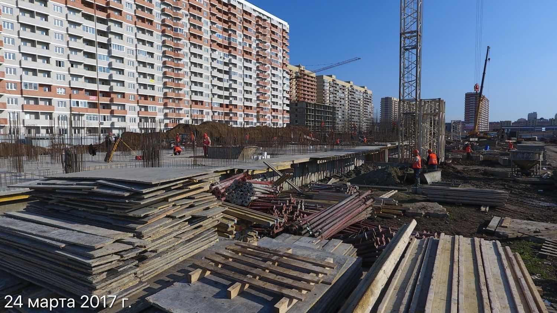Ход строительства ЖК Победа (2-ая очередь) за 24 марта 2017 г.